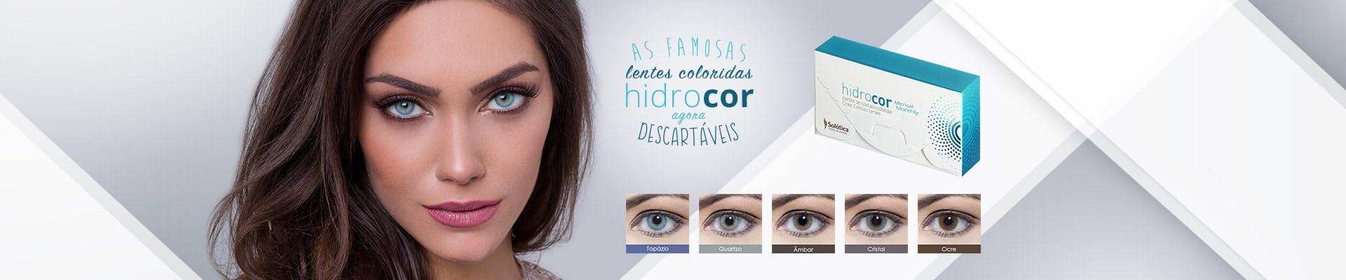 AS FAMOSAS LENTES COLORIDAS HIDROCOR , AGORA DESCARTÁVEIS !!!