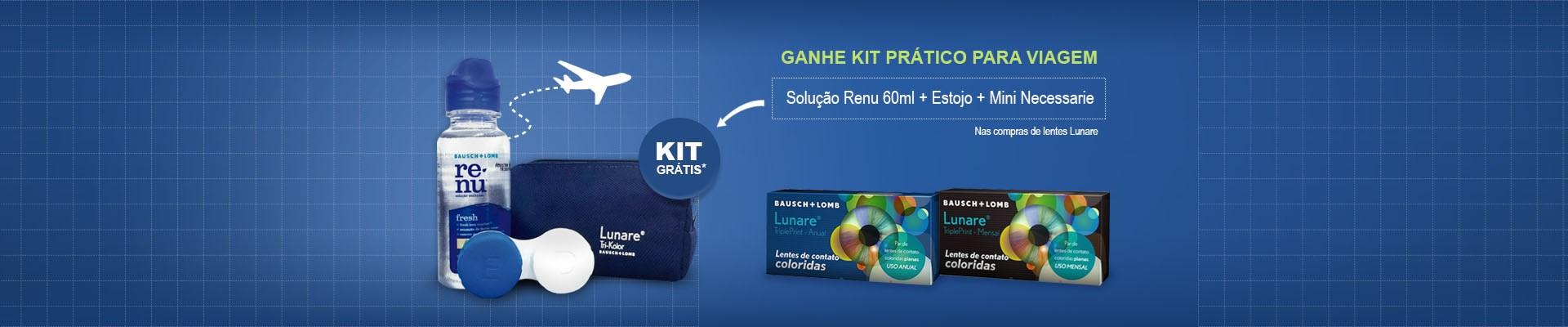 Promoção lentes Lunare - Ganhe kit viagem