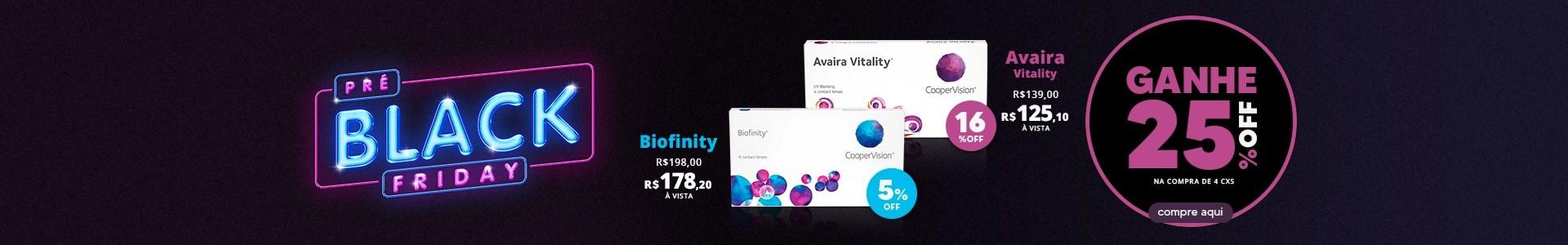 Promoção Biofinity 25%OFF + 10%OFF à vista