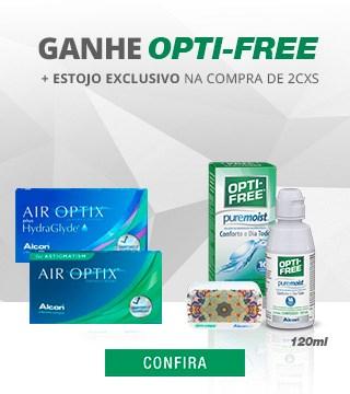 Ganhe Opti-Free 120ml na compra de lentes Alcon