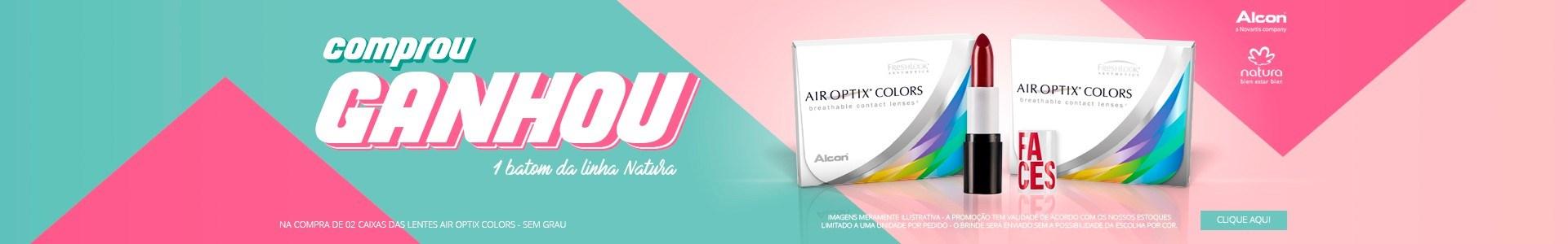 Air Optix Colors + 01 Batom de Brinde na compra de 2 caixas