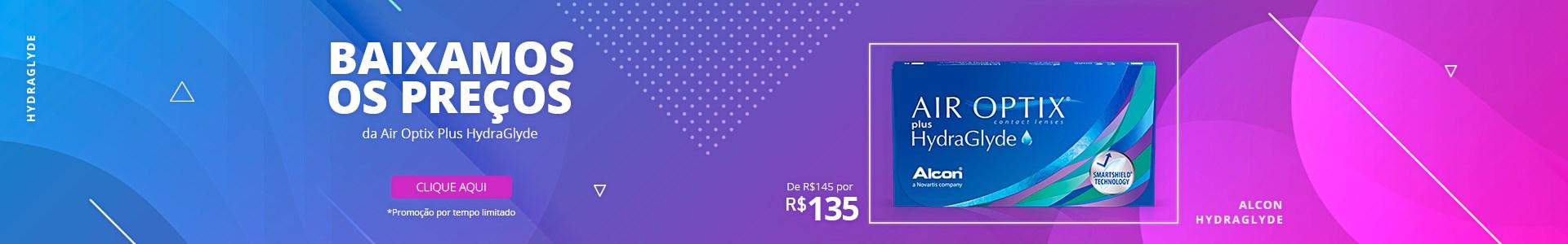 Air Optix Plus HydraGlyde de R$145 por R$135