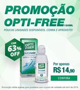 Opti-free com 63% de desconto