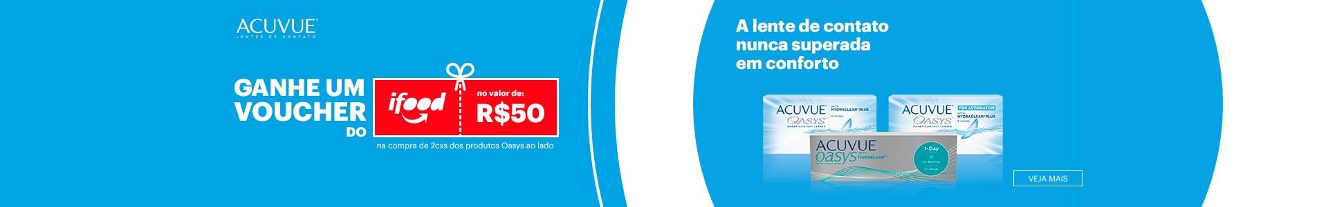 Promoção ACUVUE e iFOOD válida somente até o dia 22/11/20
