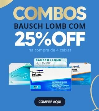 Bausch Lomb Combos com 25% OFF na compra de 4 caixas