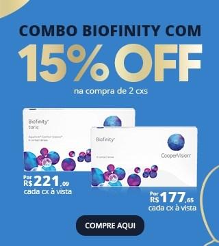 Combo Biofinity com 15% OFF