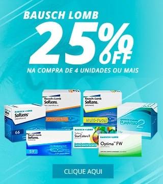 Bausch+Lomb com 25% de Desconto