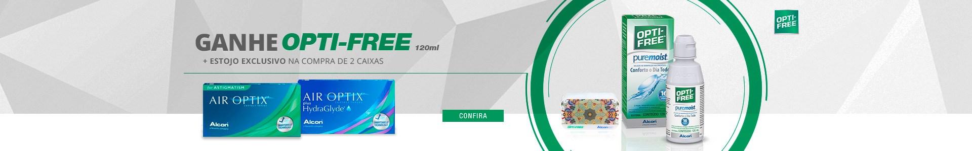 Ganhe Opti-Free 120ml na compra de 2 cxs da Alcon