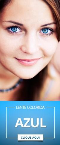 Lentes de contato Azul