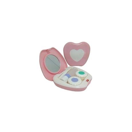 Kit portátil para lentes de contato modelo Coração A-509