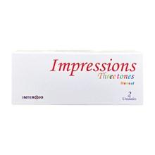 Lentes de contato coloridas Impressions Three Tones mensal - Sem grau