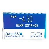 Lentes de contato Dailies AquaComfort Plus com 30 unidades