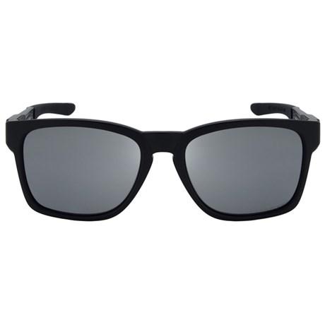 0c3b4eaf71f3d Óculos de Sol Oakley Catalyst 9272L-09 Polarizado Preto   Prata Iridium  Espelhada