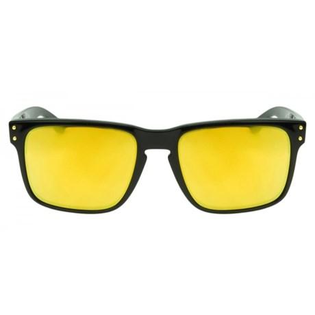 f72d5bece Óculos de Sol Oakley Holbrook 9102L-08 Preto / 24k Iridium