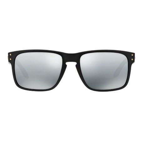 0603eabc08d0d Óculos de Sol Oakley Holbrook 9102L-17 Polarizado Preto Fosco   Cinza