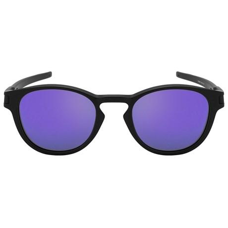 Óculos de Sol Oakley Latch 9265L-06 Preto / Roxo Espelhado