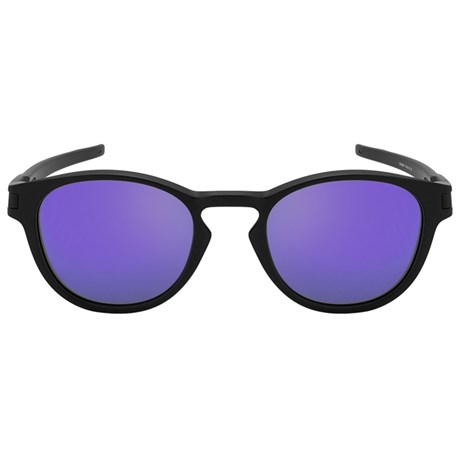 Óculos de Sol Oakley Latch 9265L-06 Preto   Roxo Espelhado a9c0381067