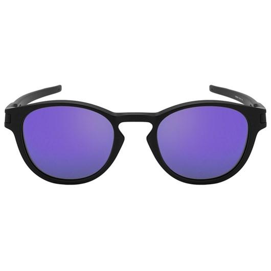 Óculos de Sol Oakley Latch OO9265L-06 Preto / Roxo Espelhado