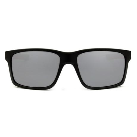 Óculos de Sol Oakley Mainlink 9264-12 Preto com Vermelho   Prata Espelhado 84caf1b62d