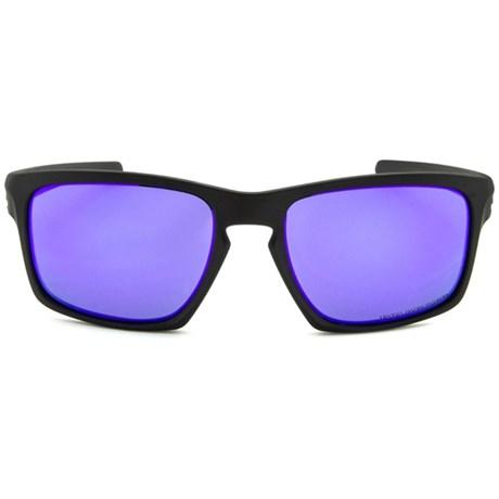 bf37955043ada Óculos de Sol Oakley Sliver 9262L-10 Polarizado Preto   Violeta Iridium
