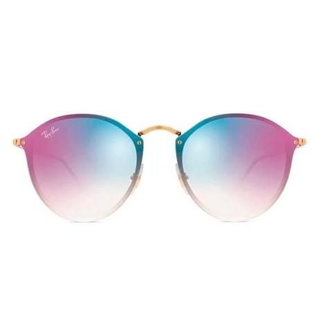 7ea94150794e2 Óculos de Sol Ray Ban Blaze Round RB3574N 001 X0 59 - Newlentes