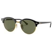 Óculos de Sol Ray-Ban Clubround RB4246 901 51 Preto/Verde