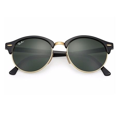 16dfbead70517 Óculos de Sol Ray Ban Clubround RB4246 901 51 Preto Verde