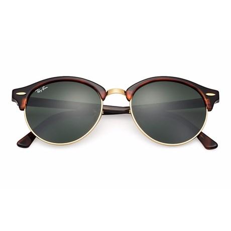 e4a9760c11dda Óculos de Sol Ray Ban Clubround RB4246 990 51 Tartaruga Dourado