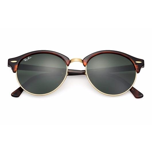 Óculos de Sol Ray Ban Clubround RB4246 990 51 Tartaruga/Dourado
