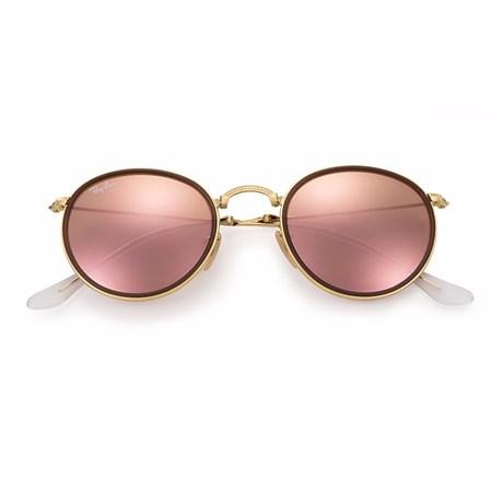 Óculos de Sol Ray Ban Round Dobrável RB3517 001/Z2 48 2N