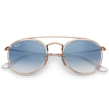 136698593594d Óculos de Sol Ray Ban Round Double Bridge RB3647N 9068 3F 51 - Newlentes