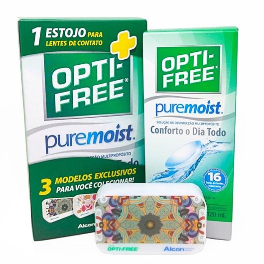 Opti-free Pure Moist 120ml - Solução para lentes de contato