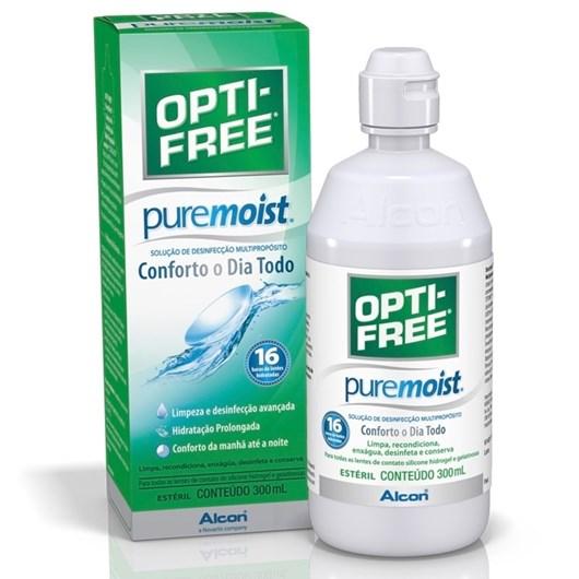 Opti-free Pure Moist 300ml - Solução para lentes de contato